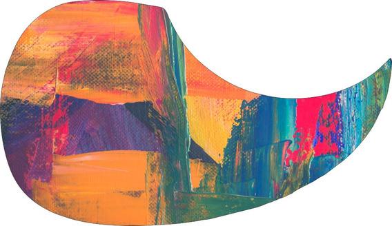 Escudo Palheteira Resinada Violão Aço Sônica Abstract