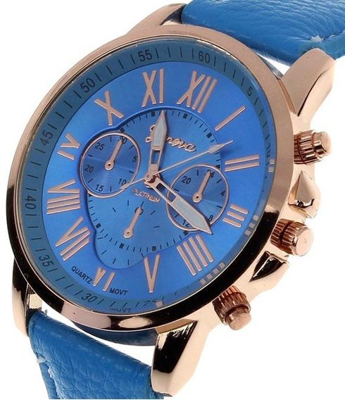 Kit Com 2 Relógio Azul E Branco + Um Brinde