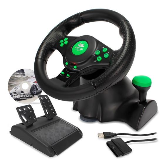 Volante Joystick Pc Xbox 360 Playstation 2 Ps2 Ps3 Vibração