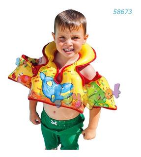 Colete Para Criança E Boia De Braço Inflável Intex 58673