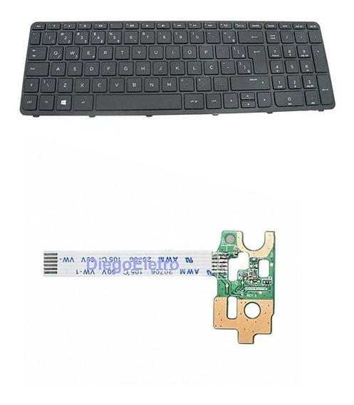 Power Button Hp Pavilion 14-n + Teclado Hp 15-f010dx