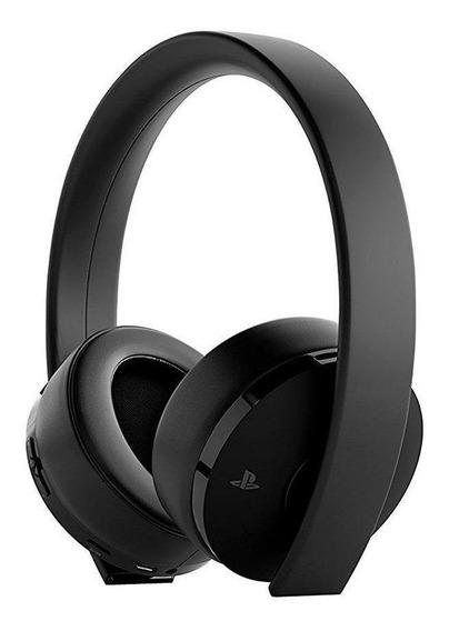 Audífonos gamer inalámbricos Sony PlayStation Gold black