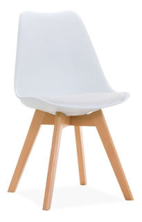 Silla Tulip Eames Pata De Madera Pack X 3 - Living Style P