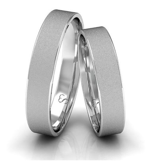 Alianças Compromisso Prata Diamantadas 4mm 5g
