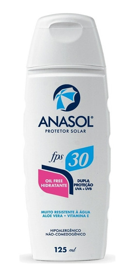 Anasol Protetor Solar Fps 30 Oil Free 125ml