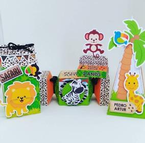 Lembrancinha Safari Frete Grátis - 60 Caixas