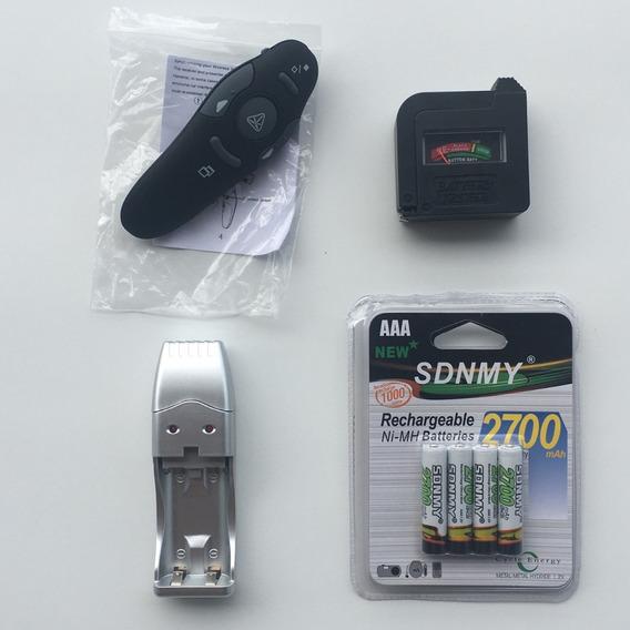 Kit Passador, Carregador Bty Usb, 4 Pilhas, Testador 113.303