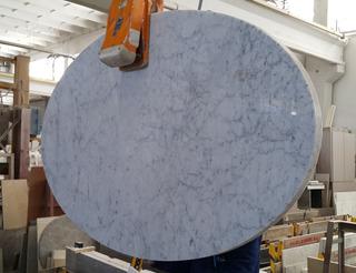 Tapa De Mármol Carrara Ovalada Para Mesa De Comedor