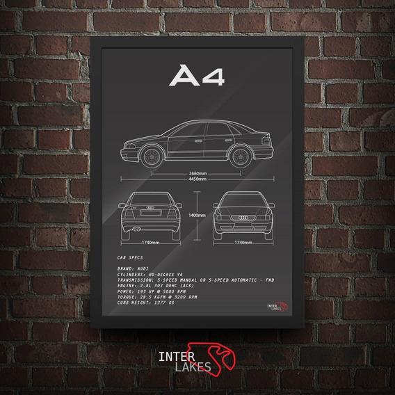 Quadro Audi A4 B5 Interlakes - Poster Carro