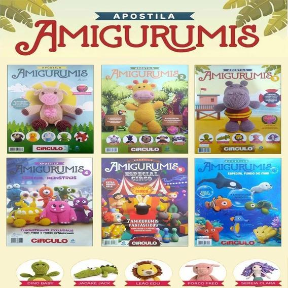 Kit 6 Revistas Amigurumis Bichinhos Crochê Editora Circulo