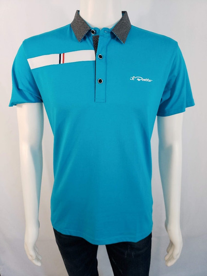 Playera Para Caballero Bratto Tipo Polo Color Celeste 9906