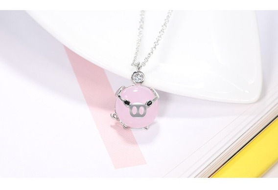 Collar Puerquito Dije Cerdito Kawaii Mini Pig Regalo Moda