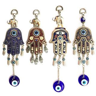 Kit Com 6 Amuleto Esotérico Chamsá Hamsá Olho Grego