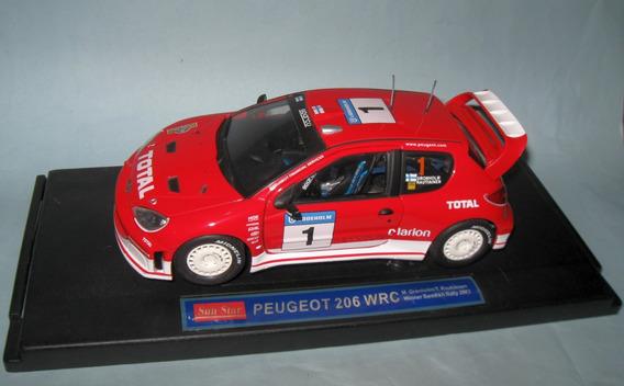 Peugeot 206 Wrc 2003 - Escala 1/18 Sunstar