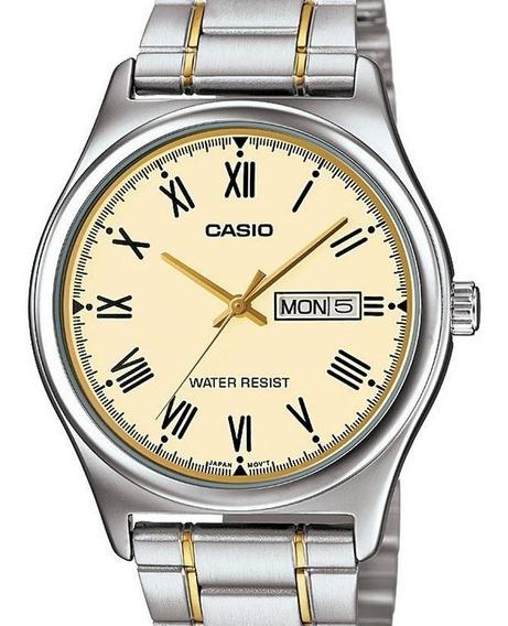 Relógio Casio Masculino Classico Prata / Dourado