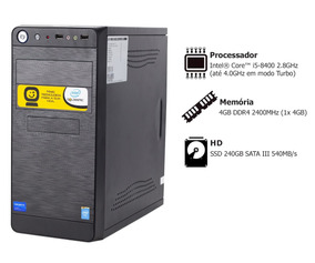 Pc Goldentec P-gcl Core I5 8400 2.8ghz 4gb Ssd 240gb