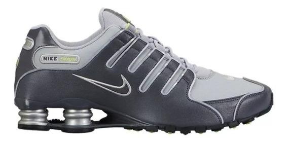 Tênis Nike Shox Nz Chumbo/limão Tam.46
