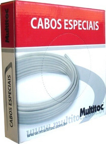 04 Pçs De Cabo Alarme 4 Vias 0,4mm 100m Branco Interfone