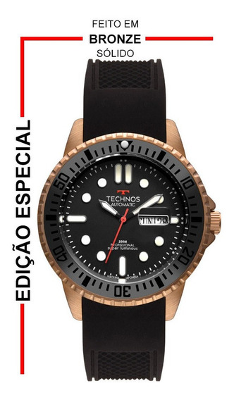Relógio Technos Masculino Super Luminous Bronze 8205oh/8p