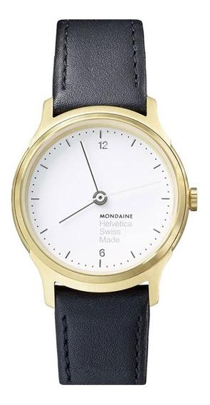 Reloj Para Dama Mondaine Negro Y Dorado Mh1.l1111.lb