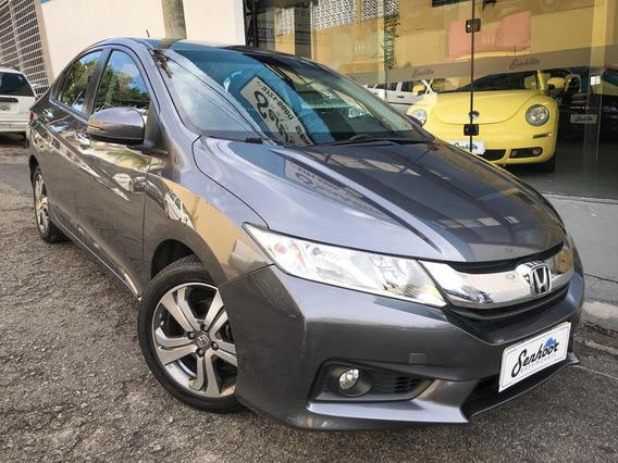 Honda City Ex 1.5 Flex Automático Cinza - 2015