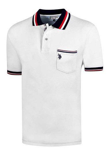 Playera Hombre Pk 92489 Us Polo Assn Blanco