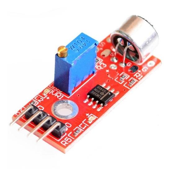 5 X Sensor De Som Arduino Microfone Alarme - 0001
