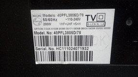 Placa Do Sensor + Teclado Philips 40pfl3805d/78 40pfl3605/78