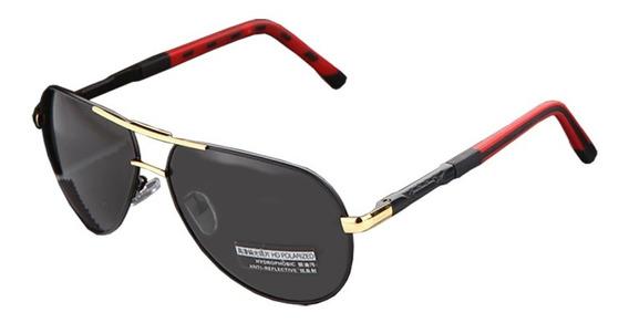 Lentes Gafas De Sol Polarizadas Barcur Design Golden Black