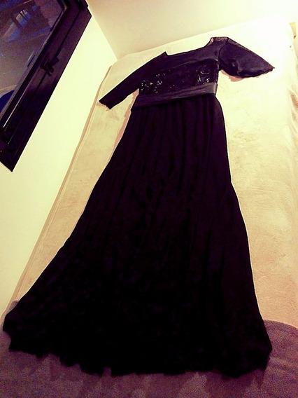 *** Vestido De Fiesta/noche Largo, Negro, Xl/xxl ¡nuevo! ***