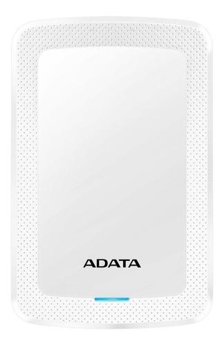 Imagen 1 de 3 de Disco duro externo Adata AHV300-2TU31 2TB blanco