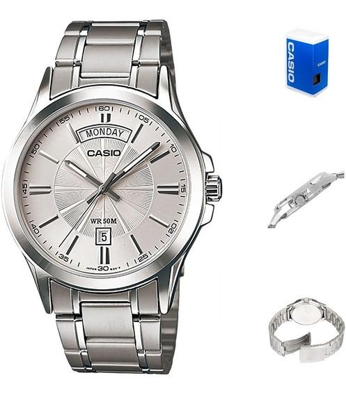 Reloj Casio Quartz Mtp1381 Hombre *watchsalas*