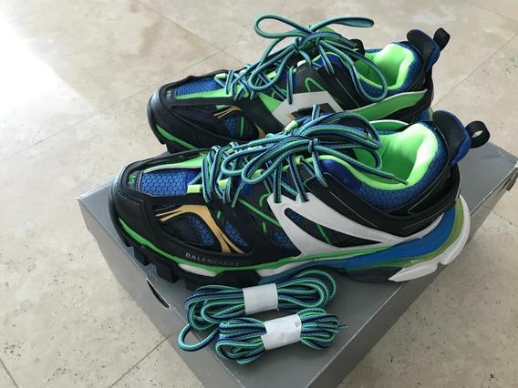 Balenciaga Track Trainers Verde Negro