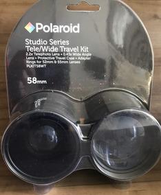 Kit De Lentes Polaroid Tele/wide Com Adaptador Para 52/55mm