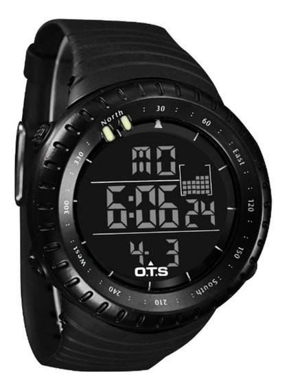 Relógio Ots Masculino Multifuncional Digital Led Prova D