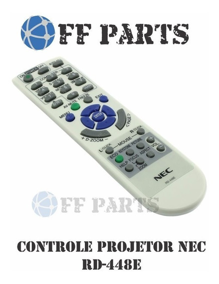 Controle Remoto Projetor Nec Rd-450c / Ve-282 Bras Alfa.