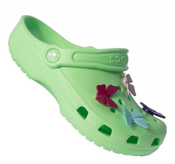 Sandália Infantil Crocs Classic Butterfly 122345