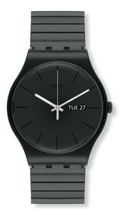 Reloj Swatch Unisex Negro Originals Suob708b Talle B Acero