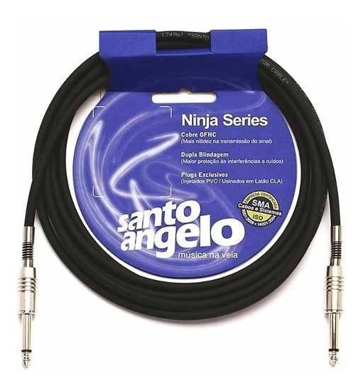 Cabo Guitarra Violao Santo Angelo 5 Ninja 4,57 Metros - Loja