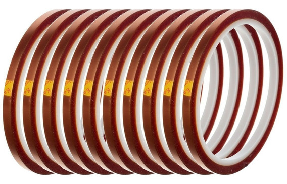 Kit 2 Fitas Kapton Alta Temperatura Bga Sublimação 5mm X33m