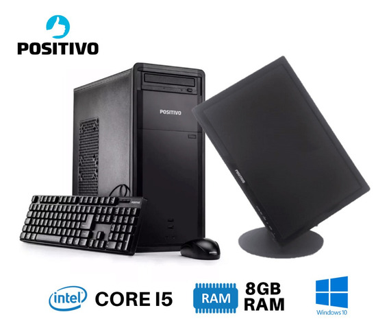 Pc Positivo I5 Hd320 8gb + Tela Wide 19