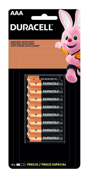 Duracell Duralock Pilha Alcalina Aaa Com 16 Unidades