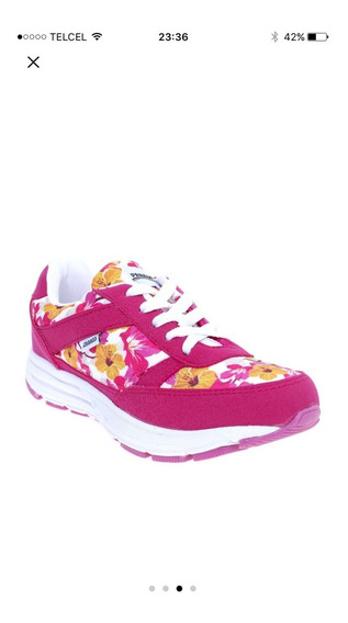 Tenis Floral Fiusha Sport / Deportivo Fitness Gym Fit Correr