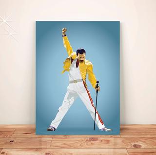 Pôster Retrô Freddie Mercury - Placa Rígida A3 #pvt060a0