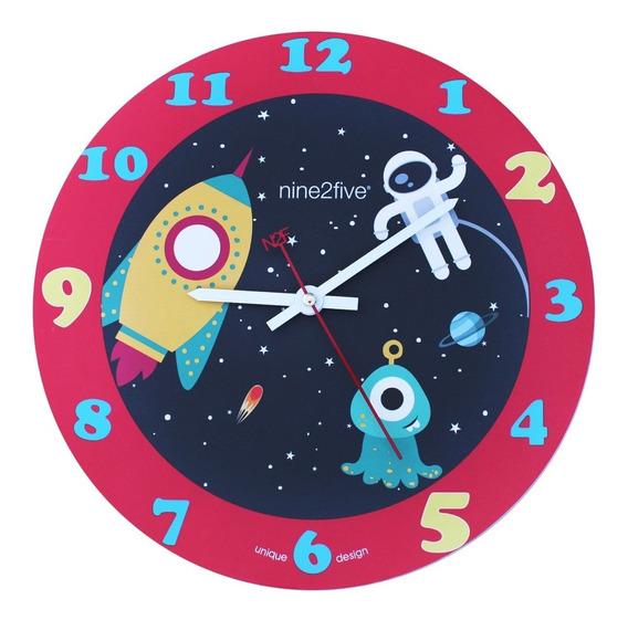 Reloj De Pared Nine2five, Pboy01az Mov Silencioso Watch It
