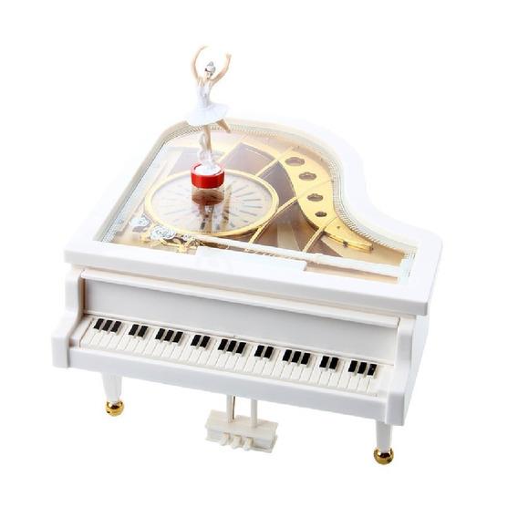 Caixinha Caixa De Música Piano Com Porta Jóias E Bailarina