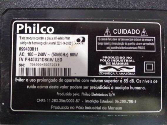 Placa Principal Tv Philco Ph40u21dsgw V.sw44