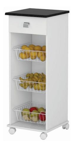 Fruteira Talita 1 Gaveta  Branco