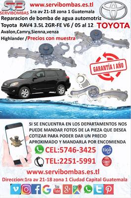 Bombas De Agua Automotrices Toyota Rav4 3.5 Guatemala