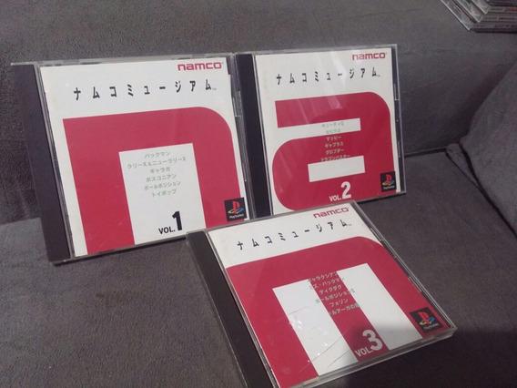 Namco Museum Volume 1, 2 E 3 Originais Completos Ps1 Japones